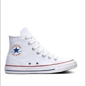 High Top White Converse Size 3